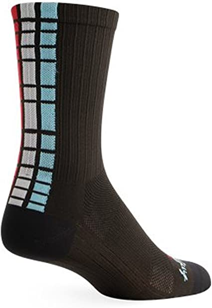 L//XL 6 inch SockGuy White SGX Performance Socks