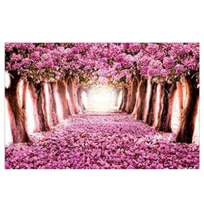 Voberry Puzzles for Adults 1000 Piece, Jigsaw Puzzles for Adults - Purple Wisteria Scenery, Micro-Sized Puzzles Painting Jigsaw Puzzles 29.53 x 19.69inch (Multicolor): Toys & Games