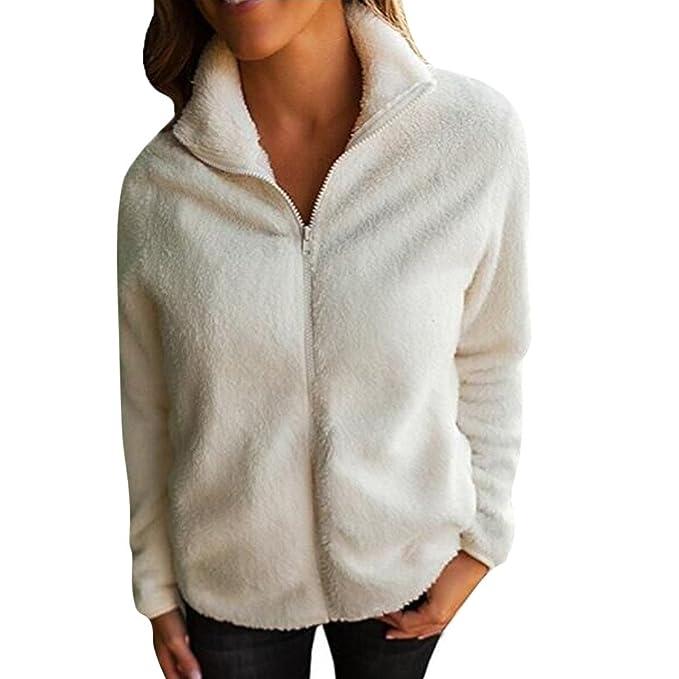 Chaqueta Punto Mujer, AIMEE7 Abrigo de la blusa de las mujeres Abrigo de la cremallera