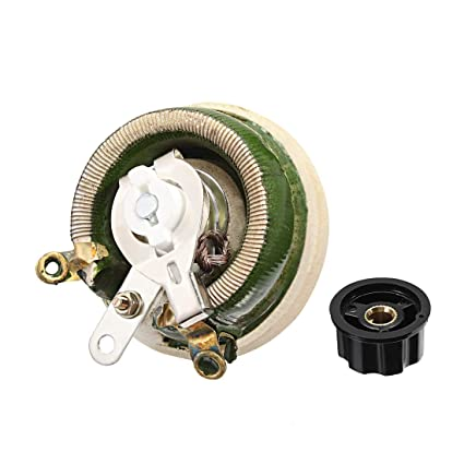 uxcell 50 ohm 50w high power ceramic wirewound potentiometer with