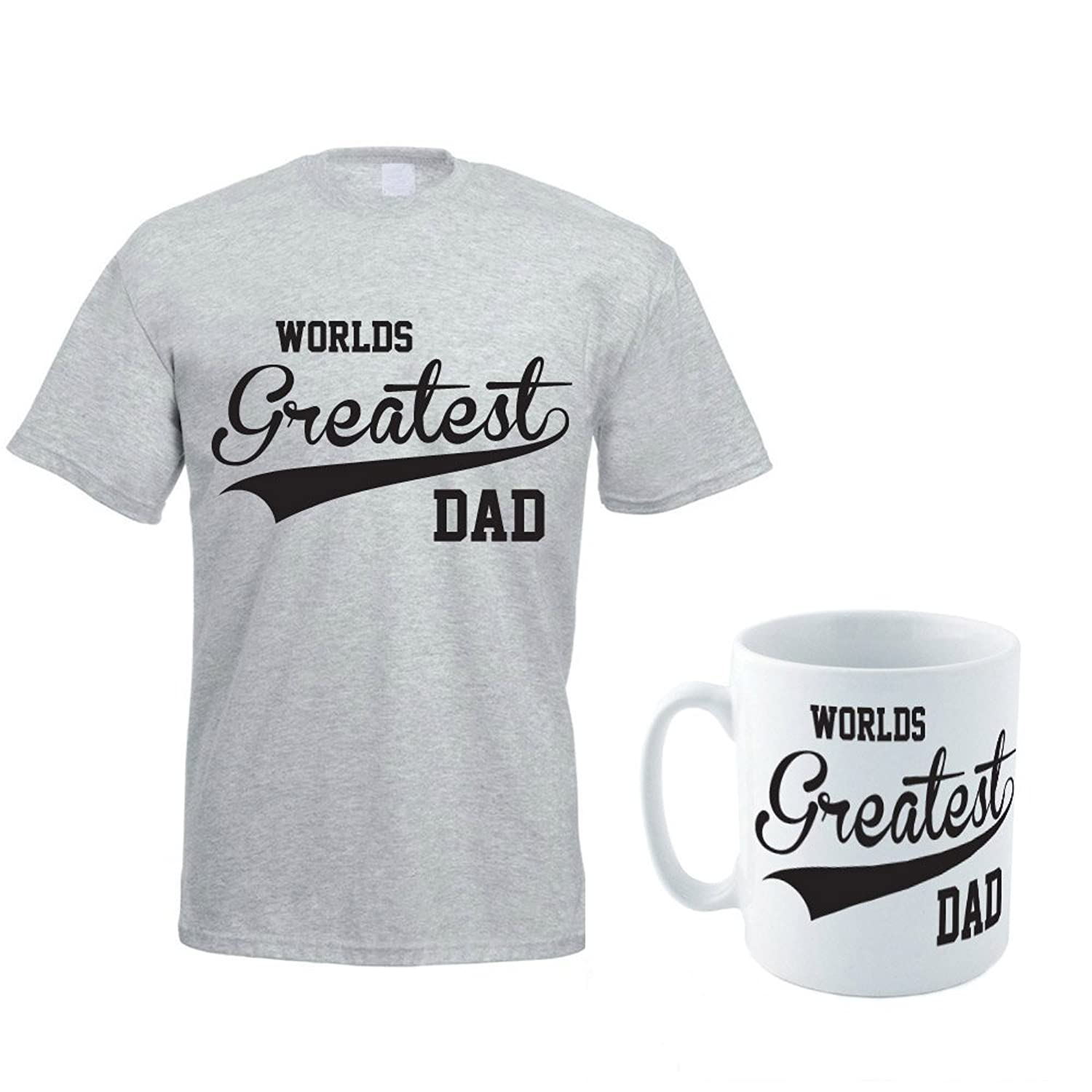 WORLDS GREATEST DAD - Father's Day / Daddy / Gift Idea / Men's T-shirt / Mug Set