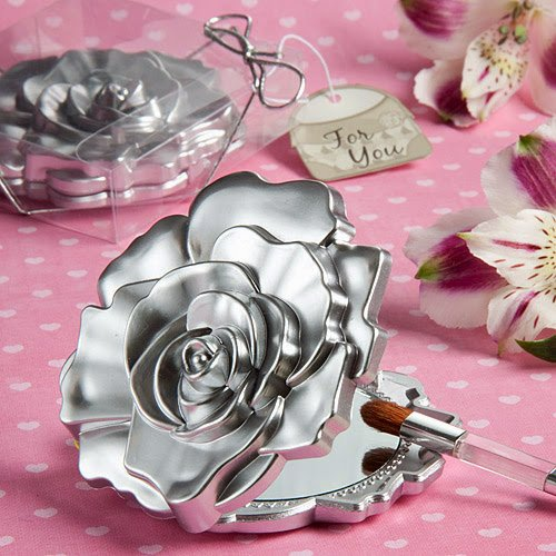 60 Realistic Rose Design Mirror Compacts