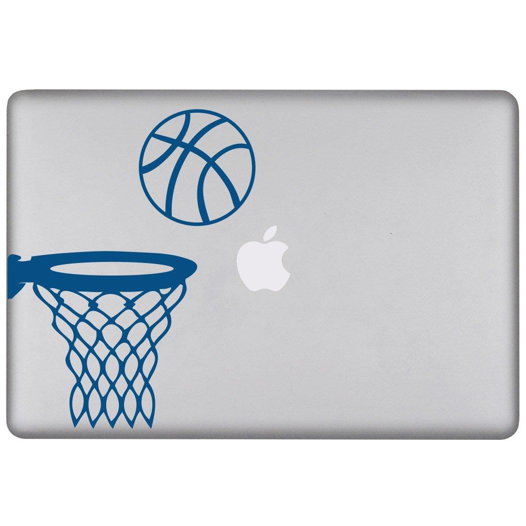 新作人気モデル ChalkTalkSPORTSリムーバブルLaptop Decalのバスケットボールフープ ブルー MacBook Pro - 13\ 13
