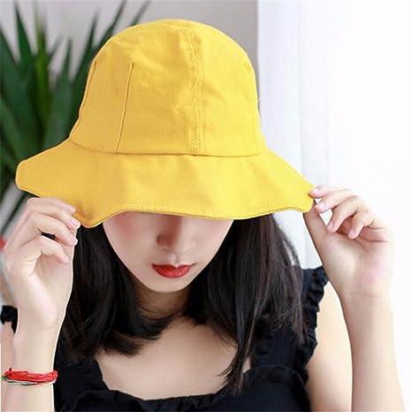 GAOQIANGFENG Womens UPF 50 + Sombrero de Pescador de Verano Femenino ... 97b2cd587c20