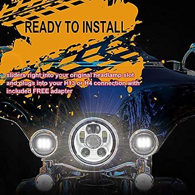 Akmties Motorcycle Headlight 5.75 Inch 5 3/4