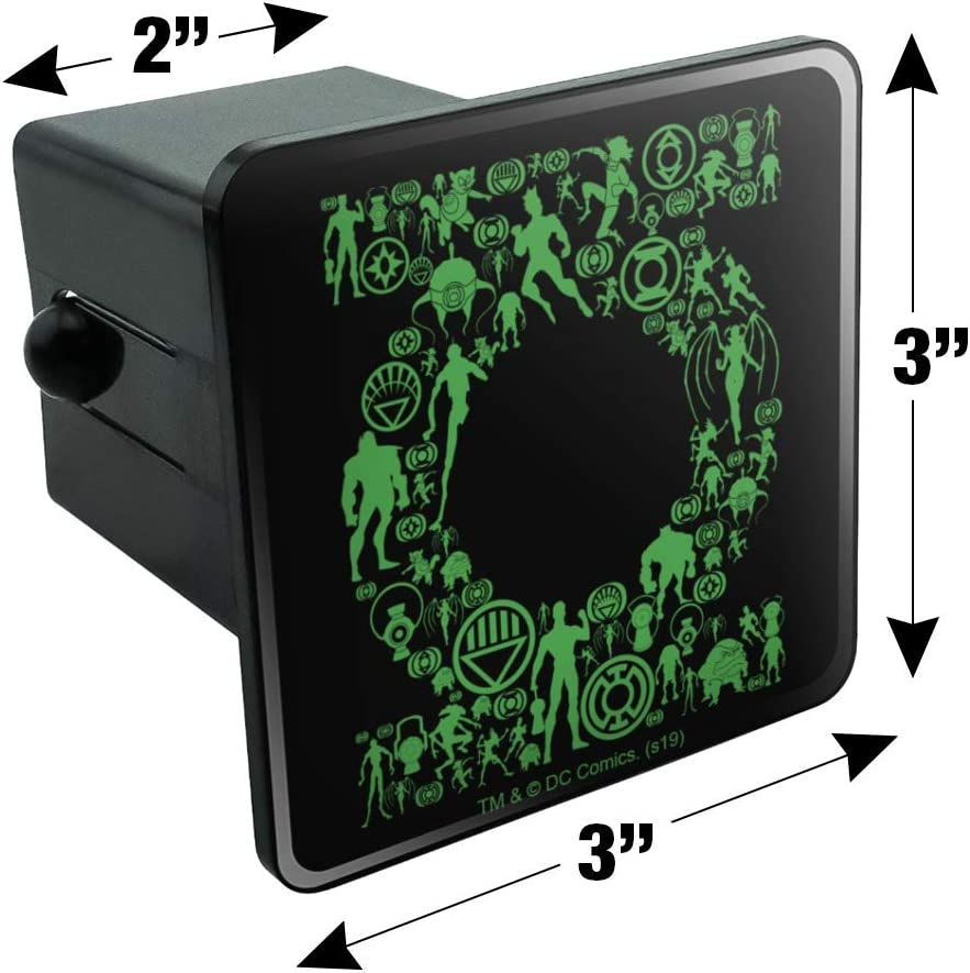 Graphics and More Green Lantern Green Lantern Icons Logo Tow Trailer Hitch Cover Plug Insert