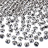 Zhanmai Jingle Bells, 300 Pieces 1/2 Inch Craft Silver Bells, DIY Bells for Wreath, Holiday Home and Christmas Decoration (Silver)