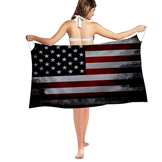 14f28c393a8 Nakgn Swimwear Cover up Beach Sarong Wrap American Flag Grunge Style  Patriotic Scarf