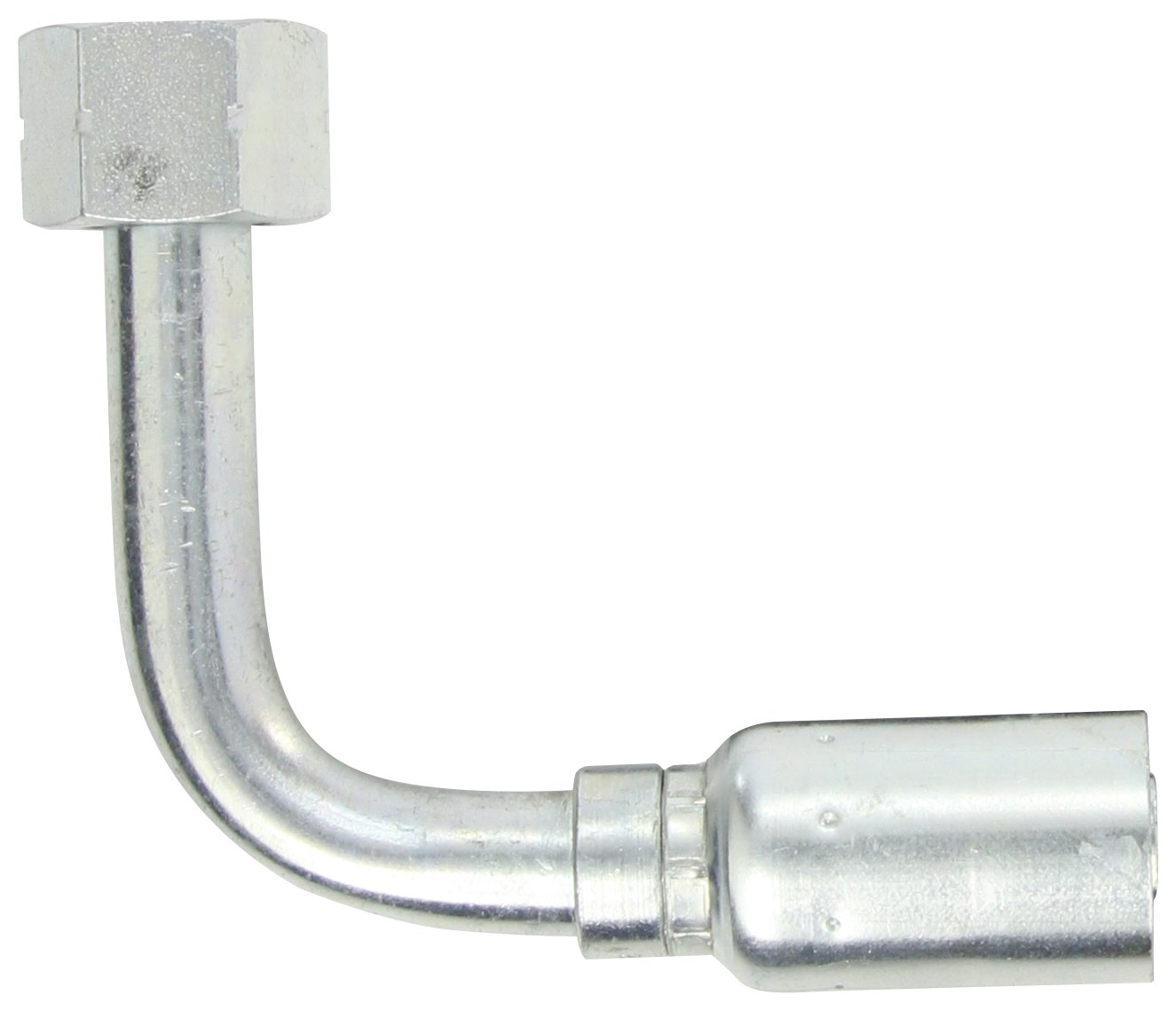 SAE 37 Degree Low Carbon Steel 3//4 Hose ID 3//4 Tube Size EATON Weatherhead Coll-O-Crimp 12U-652 90 Degree Female Swivel Long Drop Tube Elbow Fitting