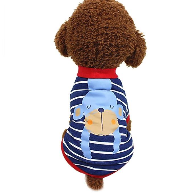 Ropa para Mascotas,Dragon868 Hot Ventas Cute Cachorro Perros Animales Impresos Camisas de Rayas: Amazon.es: Ropa y accesorios