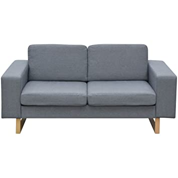 Festnight 2-Sitzer Sofa Stoff Polstersofa Loungesofa Couch Stoffsofa ...