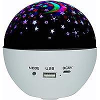 Kiaya Projetor galáxia Projetor Star Night Light com controle remoto de alto-falante musical compatible witha decoração…