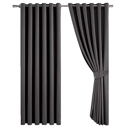 Super Soft Quality Thermal Insulated Eyelet Energy Saving Blackout Curtains Ready Made Ring