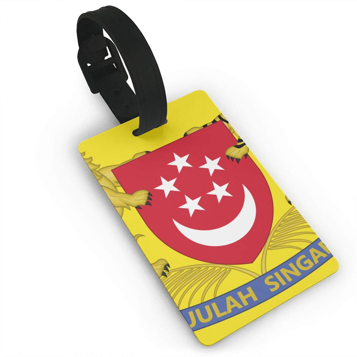 KODW12 Coat of Arms of Singapore Luggage Tag Travel Bag Labels Suitcase Bag Tag Name Address Cards