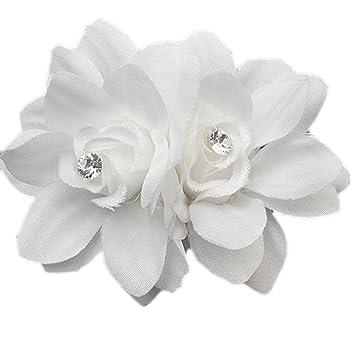 Amazon makiyo fancy hair flower clip pin for bridal wedding makiyo fancy hair flower clip pin for bridal wedding prom party girl women white mightylinksfo