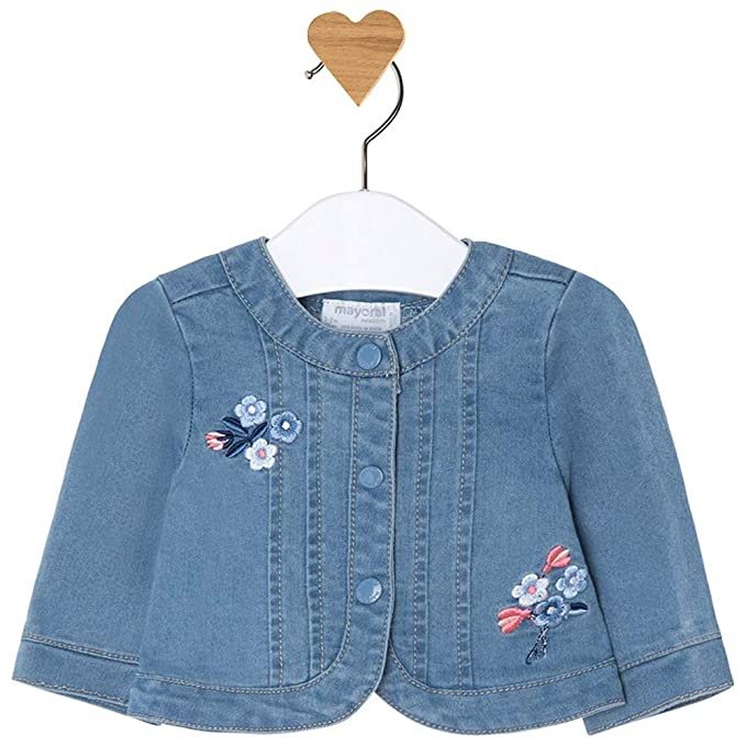 Mayoral Chaqueta Denim Bebe Niña 6-9 Meses: Amazon.es: Ropa ...
