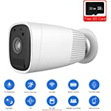 JOOAN 1080P HD Wireless Rechargeable Battery Powered Security Camera WiFi IP Camera Wire-Free Home Surveillance Cameras with Two Way Audio PIR Sensor Motion Detection Super Night Vision With 32G Micro SD Card