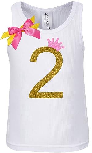 Bubblegum Divas Little Girls 2nd Birthday Pink Gold Princess Shirt 3