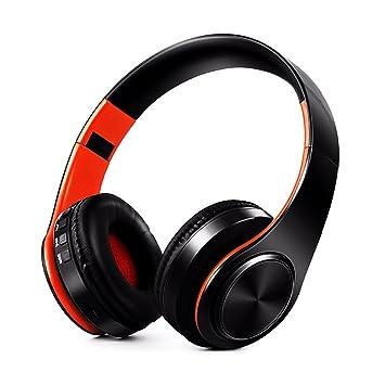 FAVOLOOK Auriculares de Diadema Plegables para Correr, Ciclismo, Bluetooth 4.0, Black Orange: Amazon.es: Deportes y aire libre