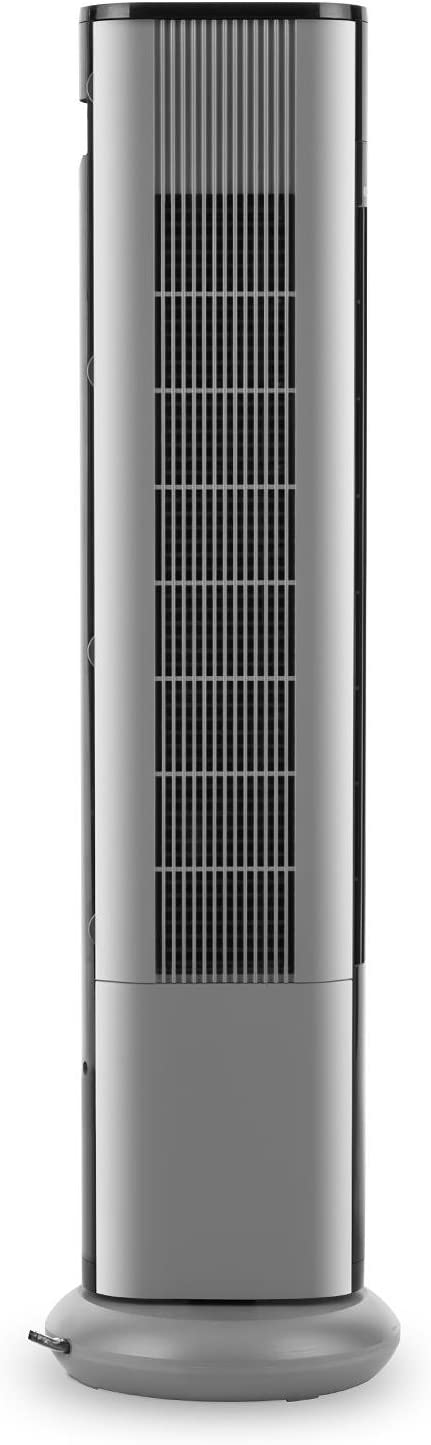 White Klarstein Skyscraper 3G Cool Edition Tower Fan, 50W, 3 Speed, Switchable 90 /° Oscillation, Touch Panel, Remote Control, Timer, Easy-to-Clean Filter, Space-Saving