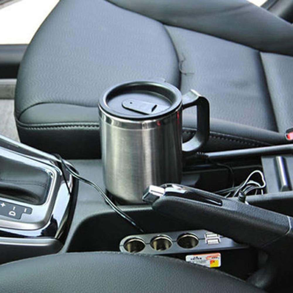 New Car Heating Cup 12v Heating Cup Electric Kettle Cars Thermal Heater Cups Boiling Water bottel Auto Accessories 500ML+Cable