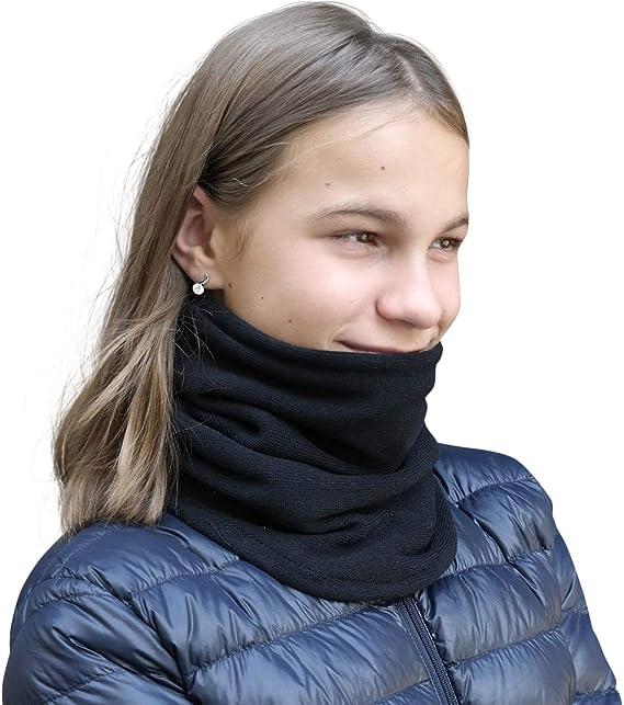 Details zu  Fleece Schal mit Klettverschluss Herren Damen schwarz