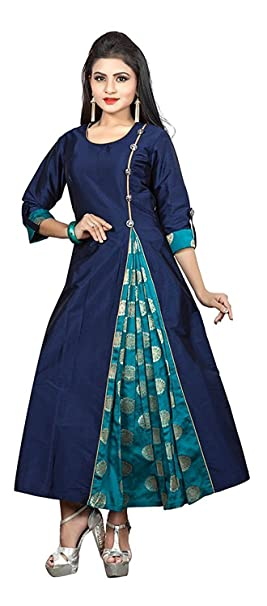 Ruchika Fashion Women's Blue Colour Redy Made Kurtas Kurtas & Kurtis at amazon