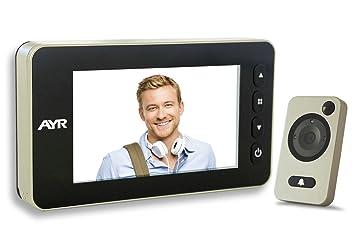Mirilla digital grabadora con sensor de movimiento