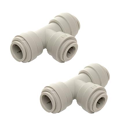 DM Fit 2 x VYAIR-DMfit reductor de la camiseta Union Push-fit conector