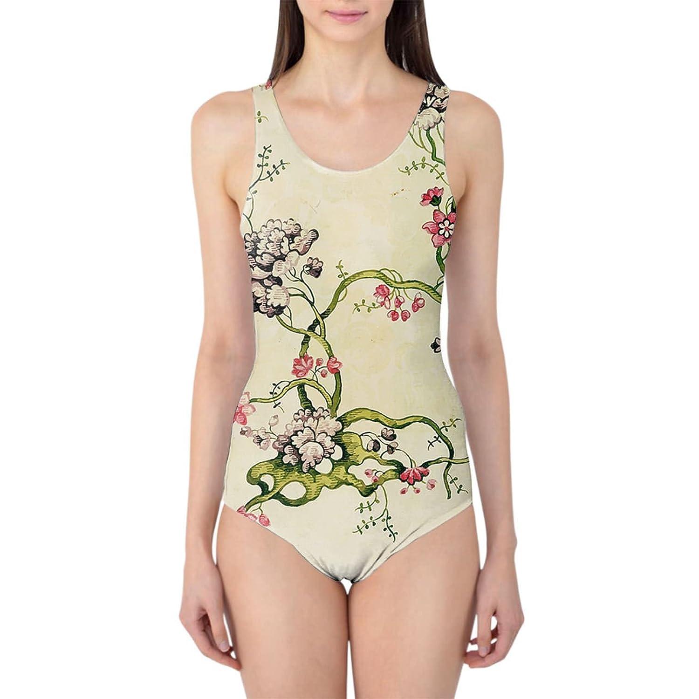 Vintage Florals Women's Swimsuit Badeanzug XS-3XL