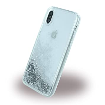 Guess Purpurina - Carcasa para Apple iPhone X, Color Plata ...