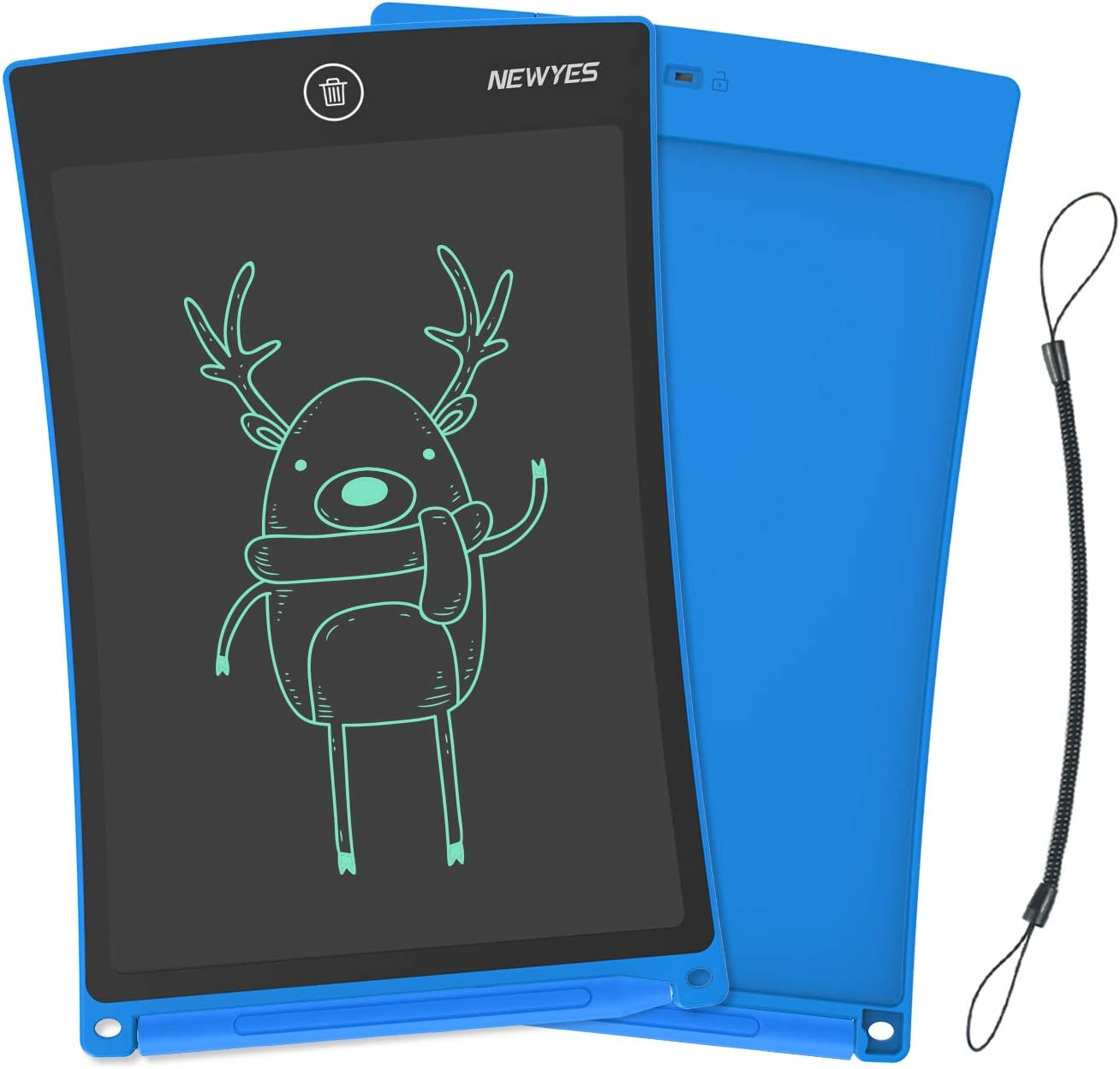 NEWYES 8.5 Inches LCD Writing Tablet Robot Pad Kids Drawing Board Digital Doodle Pad Electronic Drawing Notepad Pink