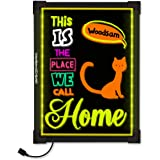 "Woodsam 24"" x 16"" LED Message Drawing Painting Board, For Children Holiday Celebration Gift, Flashing Illuminated with Remote Controlled, Multiple Colors&Sizes, Flash Modes"