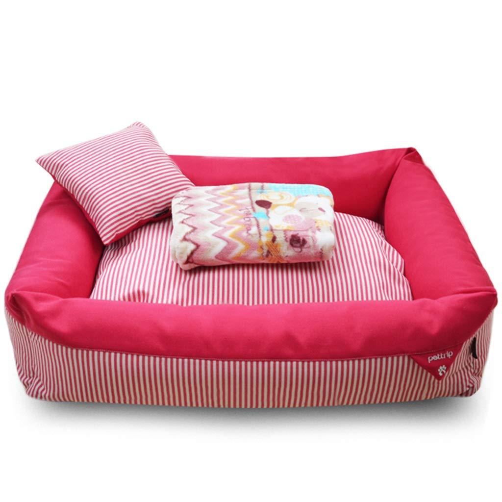 ペットベッド クッション マット ペット用マット、大型犬用犬小屋の猫小屋取り外し可能と洗えるペットの巣耐摩耗性かみ傷ペットベッド (色 : ピンク, サイズ さいず : 100×80×20cm) ピンク 100×80×20cm