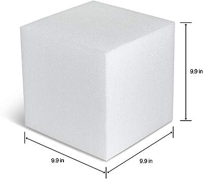 FloraCraft Foam Cube 9.9 Inch x 9.9 Inch 9.9 Inch White