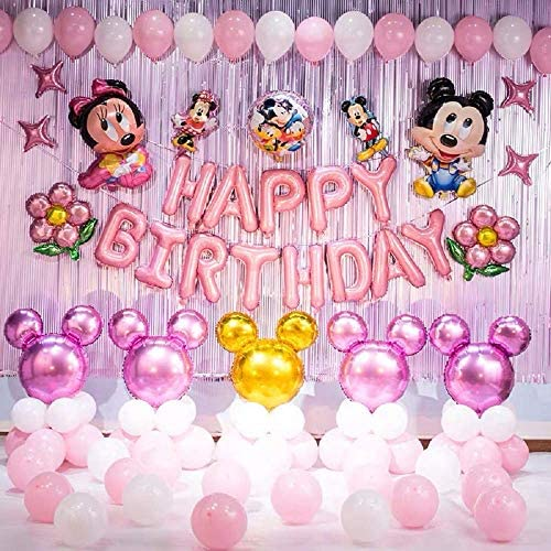 ON SALE Disney 5 piece set  Minnie Mouse shape 1st birthday number 1  Balloon large Foil Mylar Polka Dots Party Balloons Supplies