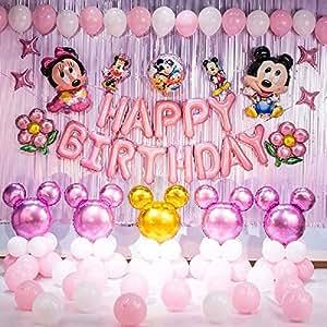 Amazon.com: Minnie Mouse - Juego de globos de Minnie Mouse ...