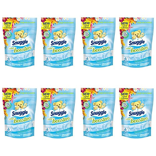 Snuggle Laundry Scent Boosters Concentrated Scent Pacs, Island Dreams, Pouch, 20 Count (8 pack) by Snuggle