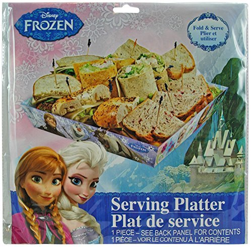 Disney Frozen Party Serveware Collection, a Selection of Platters, Cupcake Stands, and More (Serving Platter) by Frozen