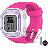 Watbro Watch Band Compatible with Garmin Forerunner 10/ Forerunner 15 Running Watch, Soft Silicone Replacement Wristband for