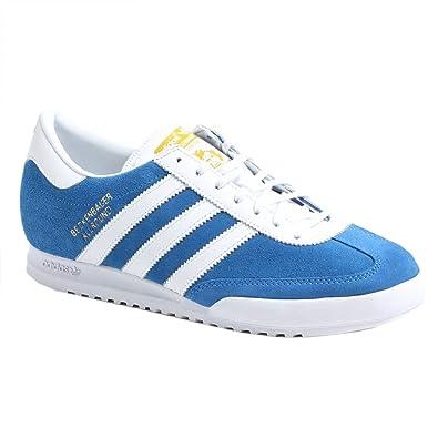 Mens Beckenbauer White EU Size 46 Blue Adidas Trainers trdhsQ