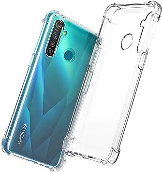 QHOHQ Funda para Realme 5 Pro, Cases Silicona Thin Slim TPU Anti-caída Cuatro Esquinas para Realme 5 Pro-Transparente: Amazon.es: Electrónica