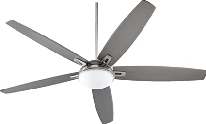72 ceiling fan silver quorum 8172565 vector satin nickel 72quot ceiling fan with light wall 72