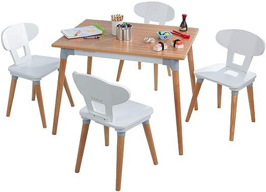 KidKraft - Juego de mesa y 4 sillas retro para niños y niños: Amazon.es: Hogar