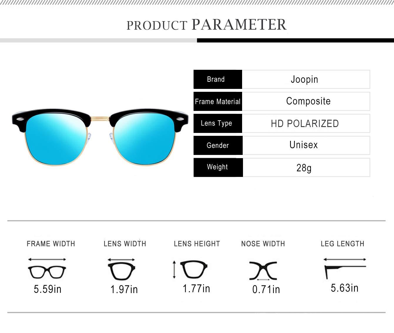 1a18b0df1259 Joopin Semi-Rimless Polarized Sunglasses Women Men Brand Vintage Sun Glasses  H9041-09