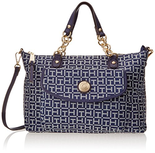 05dbf3eaa23 Tommy Hilfiger Coin with Chain Monogram Jacquard Convertible Shopper  Shoulder Bag - Buy Online in Kuwait. | Shoes Products in Kuwait - See  Prices, ...