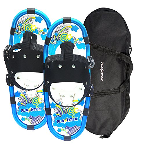 Flashtek Snowshoes for kids, Light Weight Terrain Snowshoes +Free Carrying Tote Bag