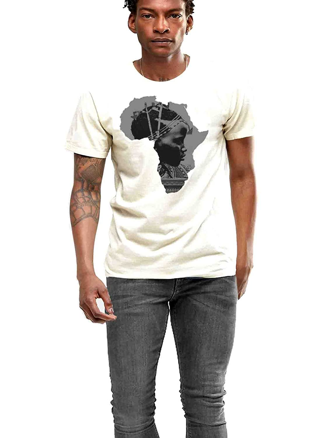 Africa T-shirt African Map Cotton Tee Black History By Goliath74