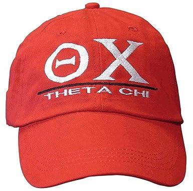 Greekgear Theta Chi World Famous Line Hat White at Amazon Men's