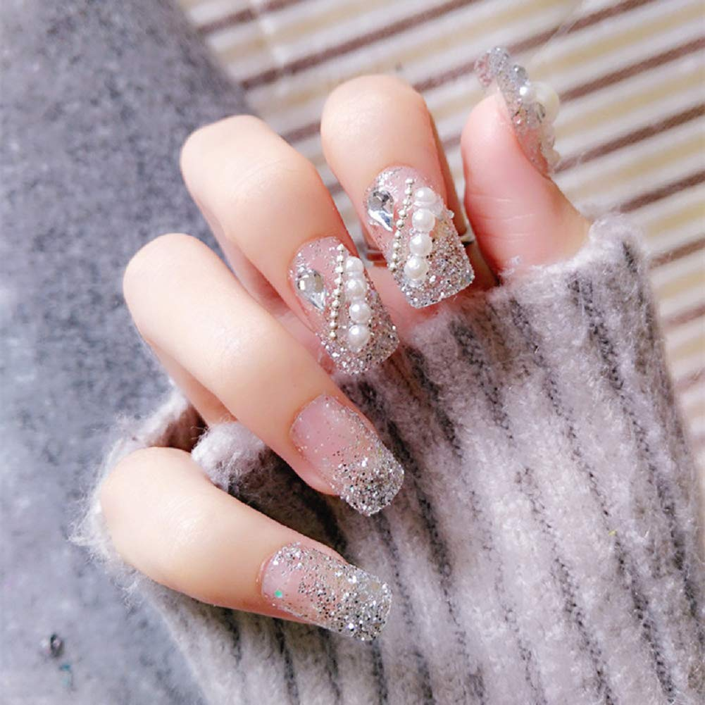 Amazon Com 24pcs 3d French Bridal Wedding Nails